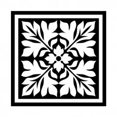 Vintage Square Ornament DXF File