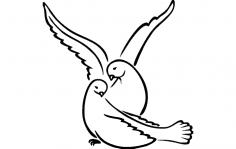 Lovebirds dxf File