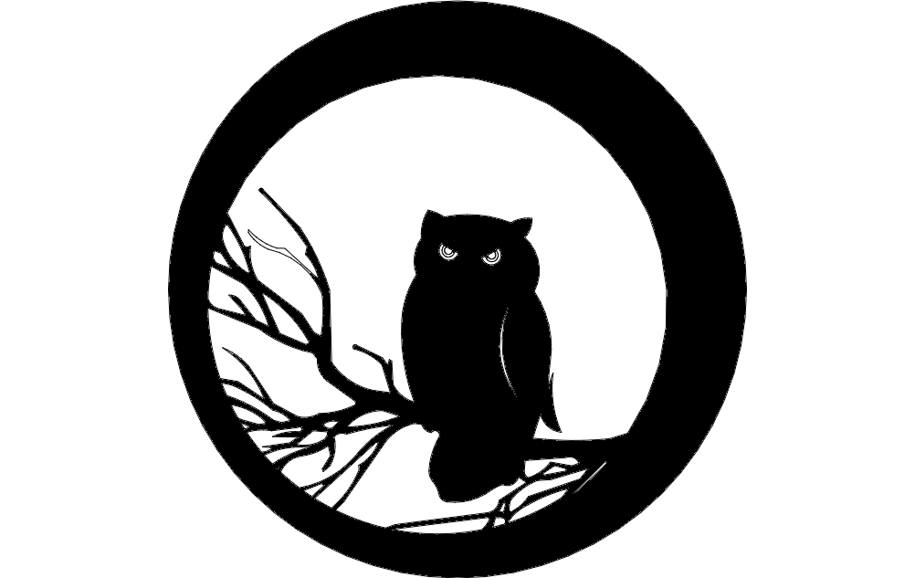 Halloween Owl dxf File