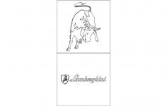 lamborghini Logo 2 dxf File