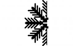 Snowflake D dxf File