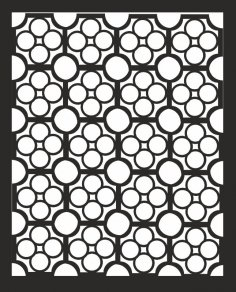 Abstract Round Jali Design Pattern Free Vector