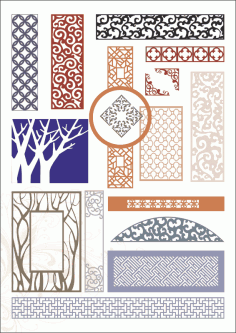 Decorative panels Free Vector