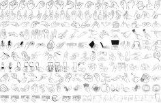 Hand Gestures Vector Art Free Vector