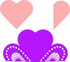 Heart Fold Card Free Vector