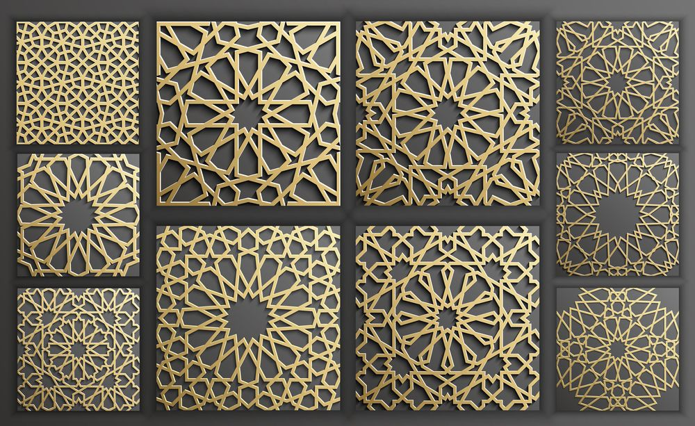 Islamic Scrollwork Pattern DXF File