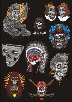 Skull T-shirt Vectors Free Vector