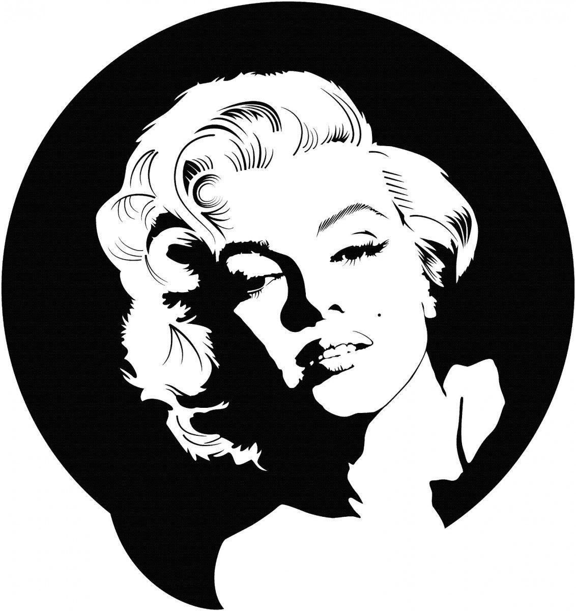 Marilyn Monroe Vector Art Free Vector