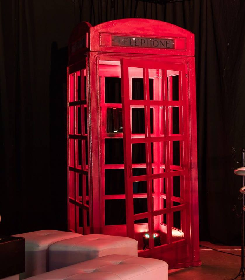 Red British Phone Box Laser Cut Plans Free Vector