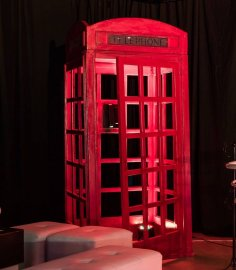 Red British Phone Box Laser Cut Plans CDR File