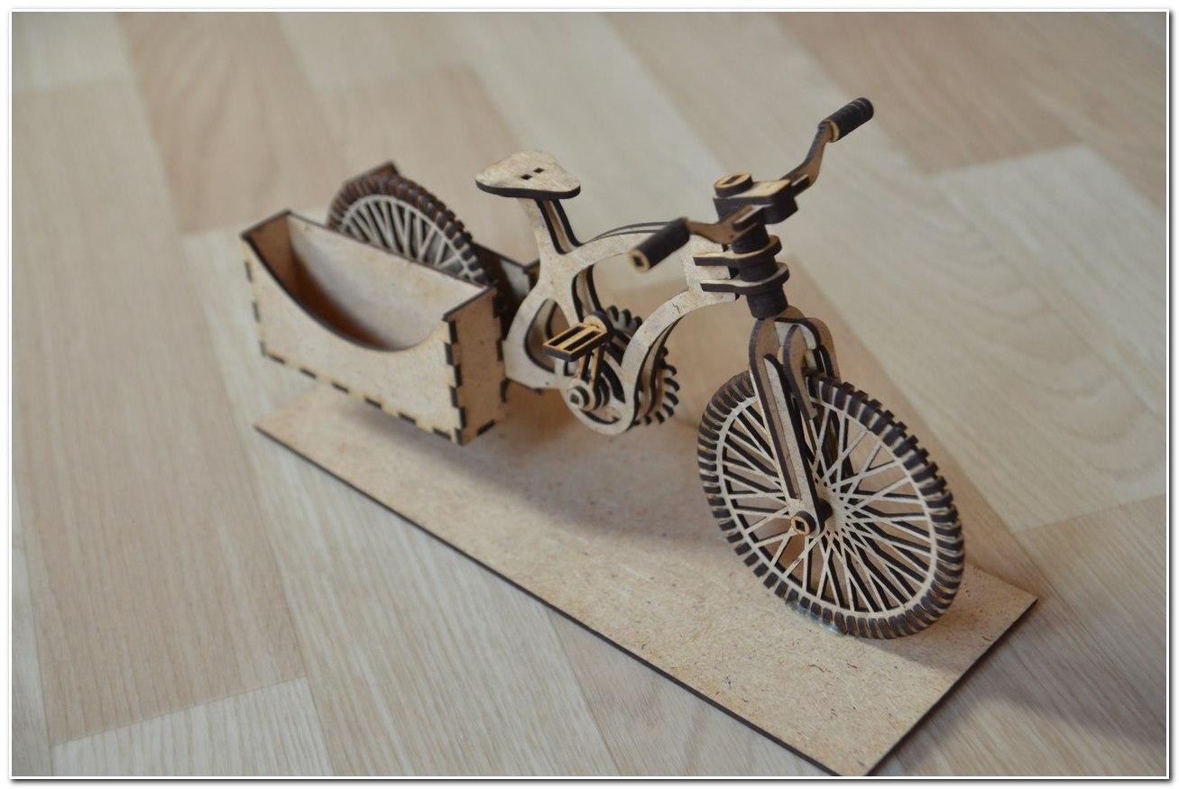 Bike Wooden Organizer A Bike CDR File