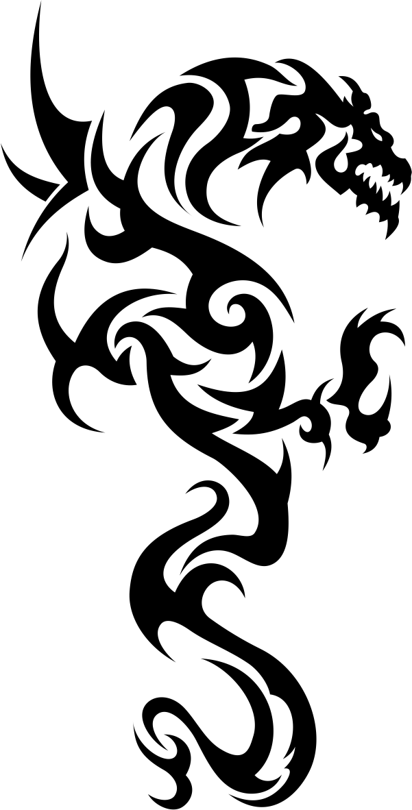 Tribal Dragon Tattoo Vector Free Vector cdr Download