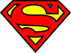 Super Man Logo Vector Free Vector