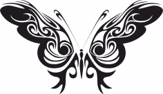 Tribal Butterfly Vector Art Free Vector