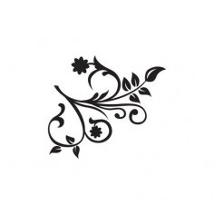 Stencil Flower Vector Art jpg Image