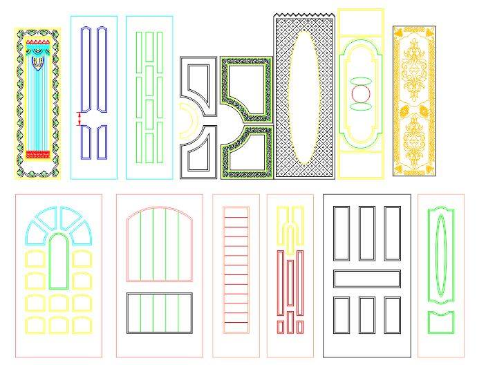 Interior Door Panel Designs CDR File