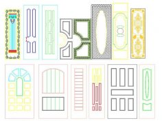 Interior Door Panel Designs Free Vector