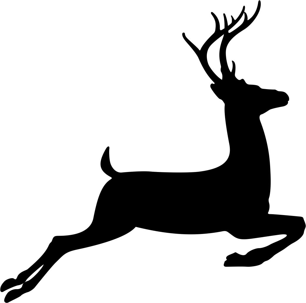 Running Deer Stencil Vector