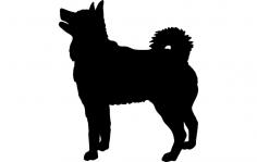 Elkhound Dog dxf File