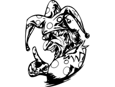 Clown 008 Bw dxf File