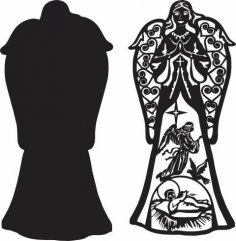 Angel Scene dxf File