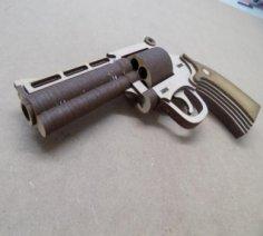 Magnum Pistol 4 Inch Barrel Laser Cut PDF File