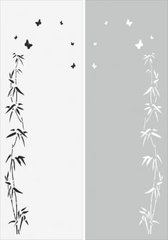Tree Branch Leaves Sandblast Pattern Free Vector
