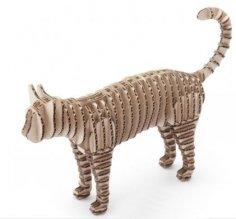 Cat 3D Puzzle Laser Cut CNC Plans PDF File