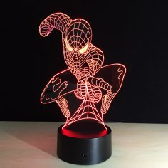 Spiderman Night Light Free Vector