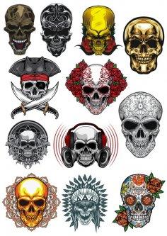 Skull Vector Set Free Vector