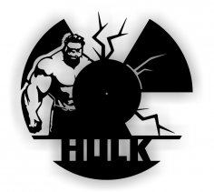 Hulk Cdr Dxf File For Cutting Vinyl Clock Free Vector