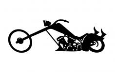 Chopper bike dxf File