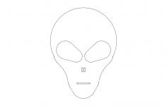 Alien Head 2 dxf File