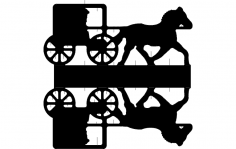 Horse Cart dxf File