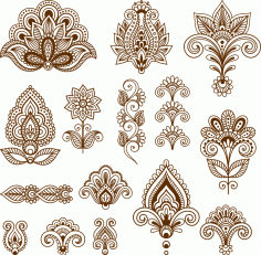 Mehndi Free Vector Art CDR File