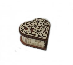 Heart Shaped Gift Box Plan for CNC Router Laser Cut CDR File
