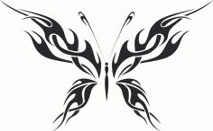 Tribal Butterfly Vector Art 10 DXF File
