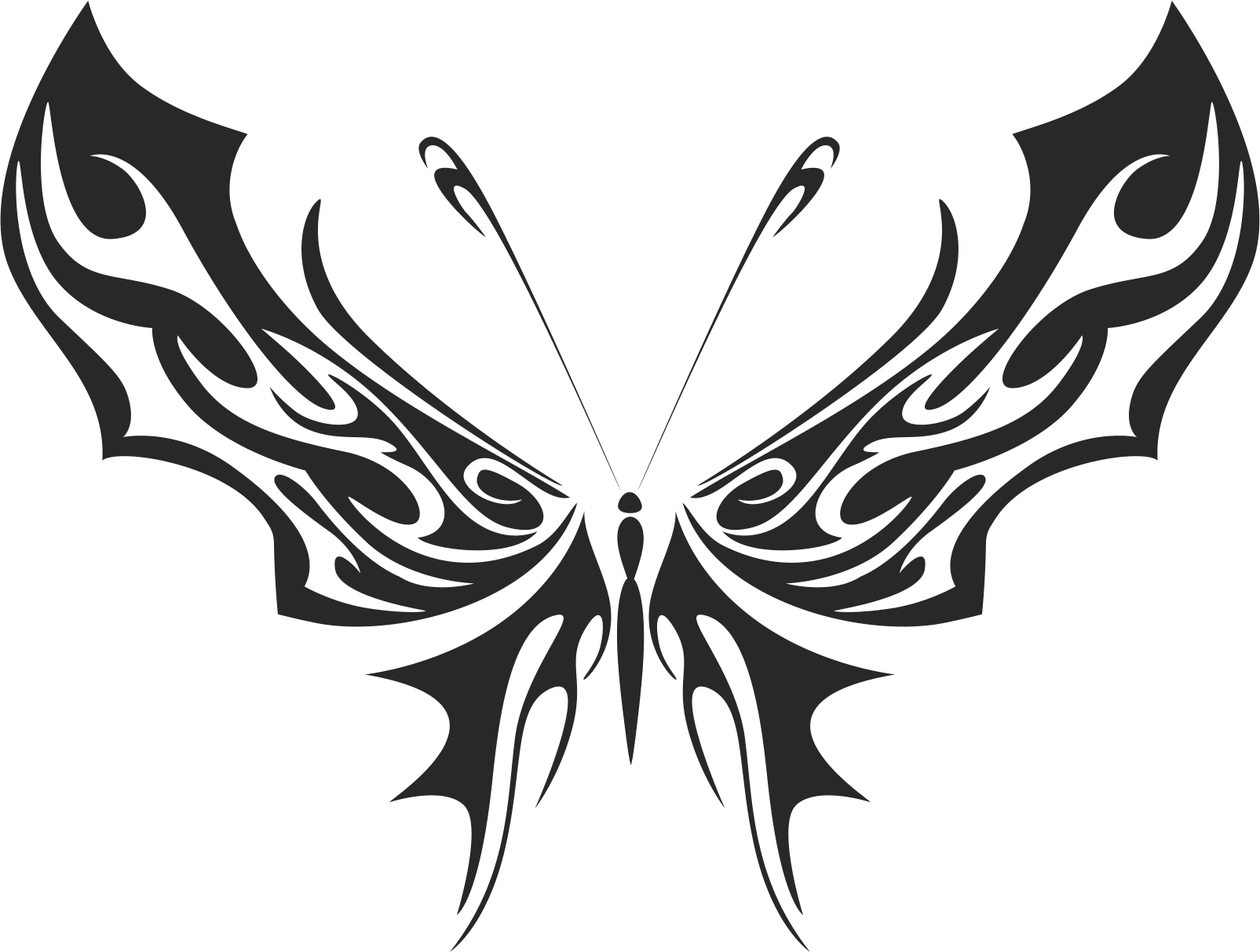 Tribal Butterfly Vector Art 35 DXF File