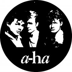 a-ha Vinyl Clocks Free Vector