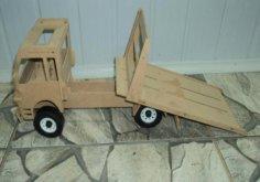 Truck Lasercut 3D Puzzle Free Vector