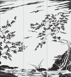 Sandblasting pattern Waterfall Free Vector