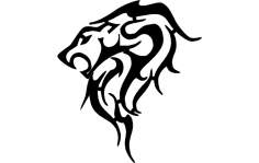 Trible Lion 9.3×8 Dxf Give Out dxf File