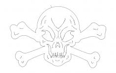 Skull And Crossbones dxf File