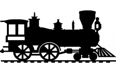 Steam locomotive dxf File