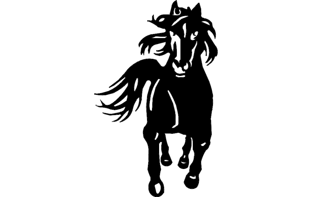 Horse Running 3 dxf File