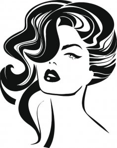 Vintage woman face Fashion and Hair Vector Free Vector