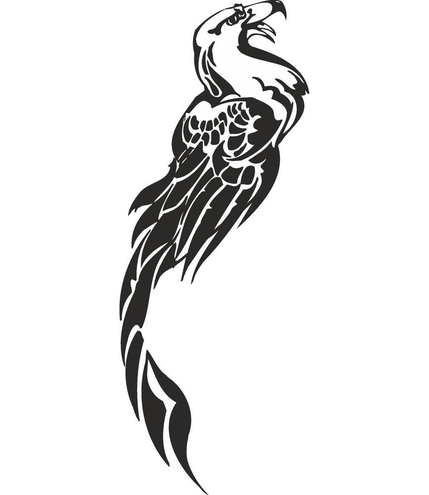 Fenix Tattoo Design Vector Free Vector