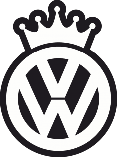 VW King Decal Sticker Free Vector
