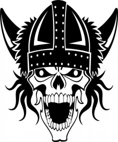 Viking Skull Vector Ai File
