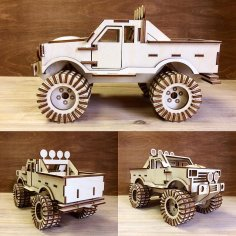 Monster Truck 3D Puzzle Laser Cut